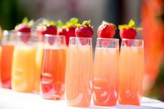 Mimosa Bar at a brunch wedding reception