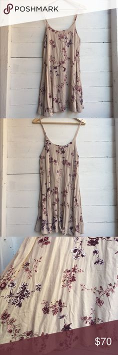 Cherry Blossom Gaby Gorgeous and super rare Brandy Melville cherry blossom gabby dress! Absolutely perfect condition and goes so well with a sweater and boots in the winter, or sandals in the summer. Tag says medium, but it honestly fits any size. Brandy Melville Dresses