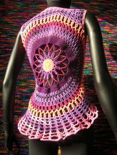 Pansy Girlfriends  Violet Mandala Crochet by babukatorium on Etsy, $100.00