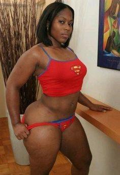 Super large naked black women