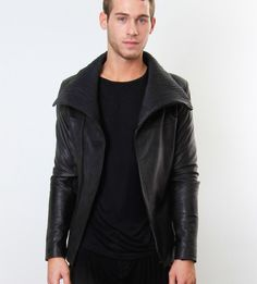 Ribbed leather jacket from @skingraft http://losangelesrivers.tumblr.com/post/28805660053/just-found-a-los-angeles-gem-got-a-really-awesome