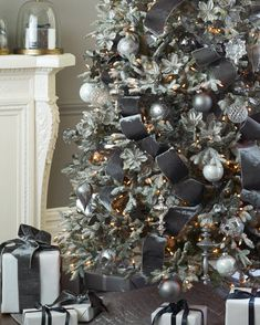 Our Shimmering Metallic Christmas Tree Ribbons feature intricate handiwork and embellishments. Bringing you the signature touch of renowned designer Donna Stevens, these ribbons beautifully complement any Balsam Hill foliage and metallic bauble. #BalsamHillUK #ChristmasDecor #ChristmasTree #ChristmasIdeas #ChristmasStocking #ChristmasDesign #HomeDecor #Interior #InteriorDesign #Home #Design #Fall #Autumn #Inspiration #Wreath #Garland Christmas Tree Ribbon Garland, Mannequin Christmas Tree, Elegant Christmas Trees, Christmas Tree Painting, Alternative Christmas Tree, Ribbon On Christmas Tree, Christmas Tree Ornaments, Christmas Tree Decorating Tips, Christmas Tree Decorations