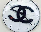 Black & White Chanel Clock