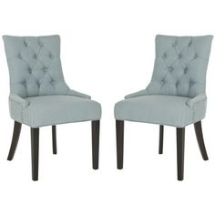 @Overstock.com - Ashley Sky Blue Side Chair (Set of 2) - The luxurious Deco silhouette of the Ashley side chairs by Safavieh brings chic, modern style to the dining room.  http://www.overstock.com/Home-Garden/Ashley-Sky-Blue-Side-Chair-Set-of-2/8434152/product.html?CID=214117 $347.39