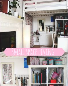 PicMonkey Collage Small Space Living Ideas Loft Bed