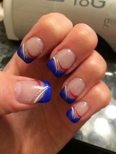 Patriotic SNS nails
