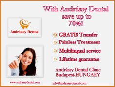 With Andrássy Dental clinic save up to 70%!