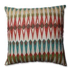 Acela Adobe Cotton Throw Pillow