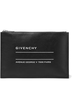 7fddfe9056 Givenchy - Printed textured-leather pouch