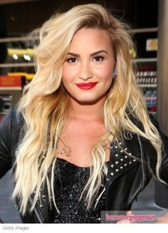 Image result for Demi Lovato platinum blonde brown hair