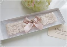 Nude Wedding Garter,Blush Pink Lace Garter, Bridal Garter, Champagne Garter Set by SelinishDesign on Etsy