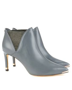Pointed toe boot - Grey | Footwear | Ted Baker UK