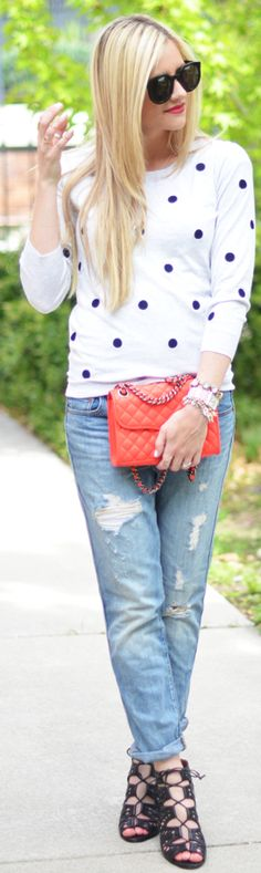 J.crew White Embroidered Polka Dot Sweater by Little Miss Fearless