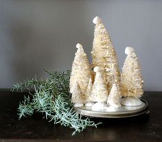 pearly white wire brush tree project, crafts, seasonal holiday decor, I m so pleased with how they turned out
