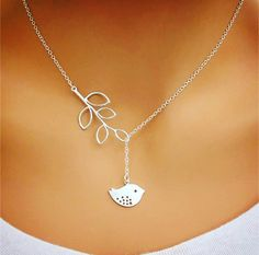 A personal favorite from my Etsy shop https://www.etsy.com/listing/481611982/silver-infinity-necklace-bird-necklace