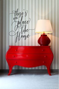 Red painted furniture, funky furniture, furniture projects, furniture d Red Painted Furniture, Funky Furniture, Furniture Projects, Painting Furniture, Painting Art, Wood Furniture, Decoration Entree, Decoration Design, Red Dresser