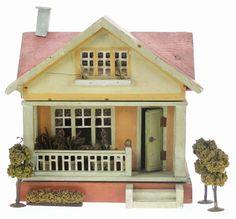 Antique Dollhouse, Wooden Dollhouse, Dollhouse Miniatures, Mini Homes, Smell Of Rain, Doll Home, Miniature Houses, Small World, Vintage Stuff
