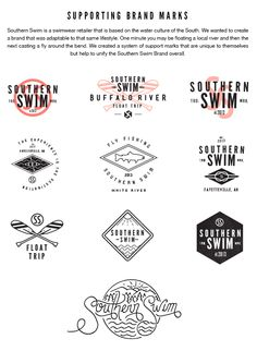 Southern Swim Branding by Jeremy Teff, via Behance
