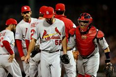 Michael Wacha is pulled in the fourth inning against the Boston Red Sox during Game Six of the 2013 World Series. Cards lost the game and series . 10-30-13