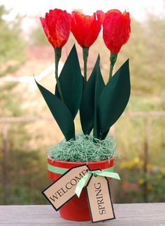You Can Make Tulips Out of Coffee Filters