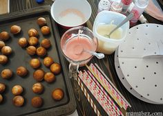 cake pop decorating | remove your cake pops from the freezer and start decorating