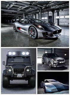 Jaguar C-X75 to star in new James Bond film Spectre. The Baddies get some seriously cool cars. Click to check them out! #007
