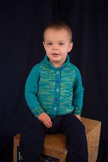 Kid's Block Cardigan by Lesley Jennings