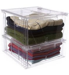 Crystal Clear Clothing Storage Drawer - Large in Clothing Storage Boxes