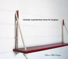 Large Swing Rope Shelf / Nautical Nursery / Beach House / Lake House / Nautical…