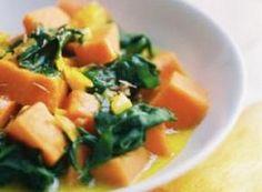 Recette Curry de patates douces aux épinards - FemininBio