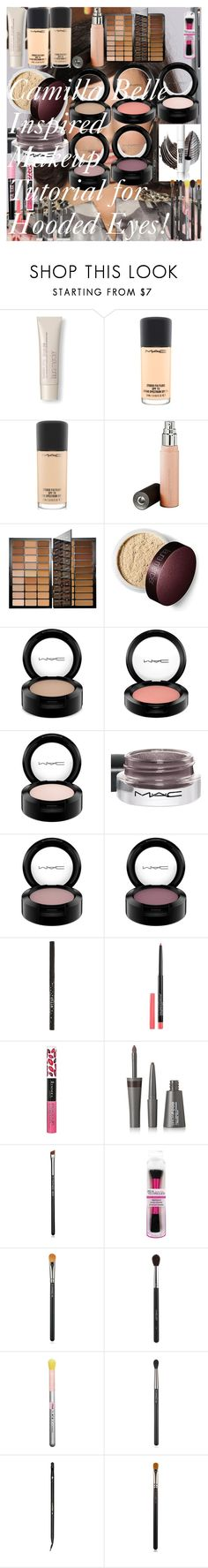 """""""Camilla Belle Inspired Makeup Tutorial for Hooded Eyes!"""" by oroartye-1 on Polyvore featuring beauty, Laura Mercier, MAC Cosmetics, Becca, Bobbi Brown Cosmetics, Stila, Maybelline, Rimmel, LashFood and Inglot"""