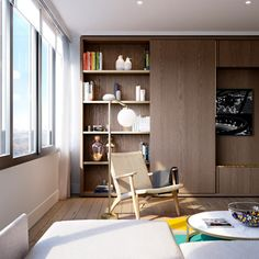 Conran and Partners is reworking the interior of a 17-storey block that forms part of London's Brutalist Barbican Estate