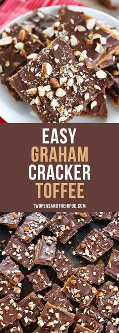 Easy Graham Cracker Toffee is the perfect holiday treat! You only need 5 ingredi.- Easy Graham Cracker Toffee is the perfect holiday treat! You only need 5 ingredi… Easy Graham Cracker Toffee is the perfect holiday treat! Köstliche Desserts, Delicious Desserts, Dessert Recipes, Impressive Desserts, Health Desserts, Holiday Baking, Christmas Baking, Christmas Holidays, Christmas Recipes
