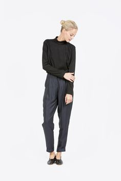 Mock Neck Crop Top by Suzanne Rae #kickpleat #suzannerae