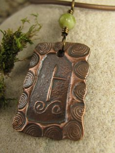Birch Celtic Tree Astrology Ogham Copper by soulharborjewelry