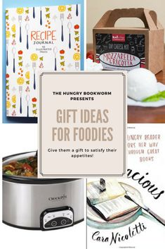 Recommendations and gift ideas for bookworms, foodies, and Gilmore Girls fans. List includes: kitchen gadgets, home decor, freebies and of course books. Book Club Snacks, Food Journal, How To Make Cheese, Present Gift, Memoirs, Book Worms, Journals, Foodies, Gift Ideas