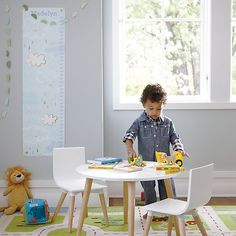 Shop Toddler Play Table And Play Chair Set. This Toddler Table and Chairs set is perfectly scaled down for little ones. And, while it may be smaller in size, it's still big on style. Toddler Play Table, Toddler Table And Chairs, Toddler Chair, Kid Table, Toddler Activity Table, Toddler Playroom, Montessori Toddler, Toddler Toys, Cheap Table And Chairs