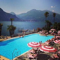Pool time at Lake Como