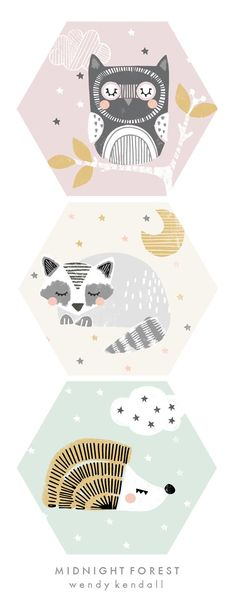 wendy kendall designs – freelance surface pattern designer » midnight forest
