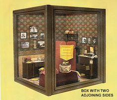 50d832c5ade9 DYI DOLLHOUSE MINIATURES: MAKING ROOMS & DISPLAY BOXES FROM PICTURE FRAMES  - miniature room boxes