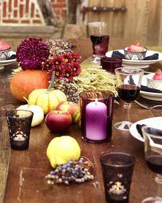 Herbstliche tischdekoration zum 50 geburtstag  gäste empfangen tischdeko party abendessen tafel herbst | Kram ...