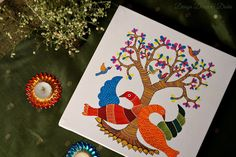 cool Indian Art Gallery Wall: Gond Painting Check more at http://igreti.net/indian-art-gallery-wall-gond-painting/