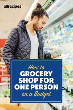 """How to Grocery Shop for One Person on a Budget   """"These strategies will help you get the most for your grocery budget while fitting into your solo cooking lifestyle. You'll save money, reduce food waste, and get more variety in your meals. What could be better than that?"""" #cheaprecipes #cheapmeals #budgetfriendly #budgetrecipes #frugalcooking #frugalmeals #cheapdinnerideas #cheap #budget #economical #frugal Frugal Meals, Budget Meals, Create A Shopping List, Dinner For One, Family Meal Planning, Cheap Recipes, Cheap Dinners, Good And Cheap, Food Waste"""