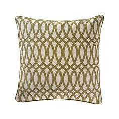 I like the lines on this Geo Print Green accent pillow to match the lines on the sideboard in my dream room.