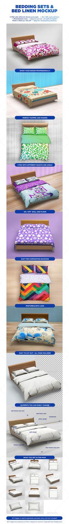 Bedding Sets & Bed Linen Mockup - Product Mock-Ups #mockups #homedecor #designdisplay