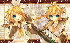 Vocaloid stars blue eyes kagamine rin kagamine len short hair ...