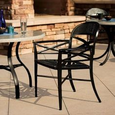 Antico cast aluminum furniture collection  by Tropitone embodies the spirit and beauty of an Indonesian landcapes. Available from Rich's for the Home http://www.richshome.com/