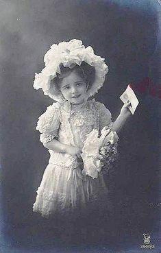 Vintage Postcard ~ Little Girl | chicks57 | Flickr