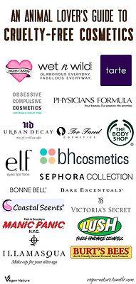 Cruelty-free cosmetics.