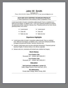 Different Resume Formats List 7 Different Resume Formats  Resume Format  Pinterest  Job .